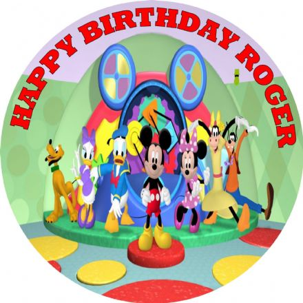 Mickey Mouse Clubhouse Edible Cake Topper